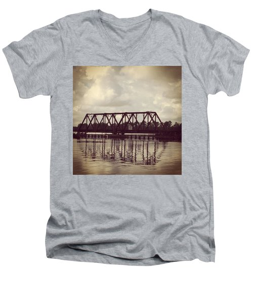 Trestle On The Pamlico River Men's V-Neck T-Shirt