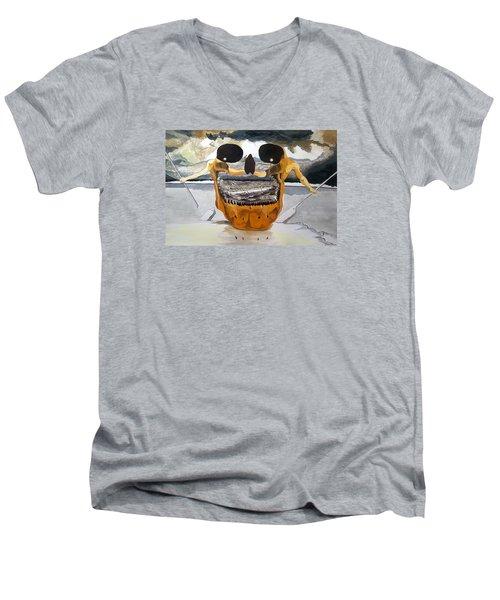 Tribulation Men's V-Neck T-Shirt by Lazaro Hurtado