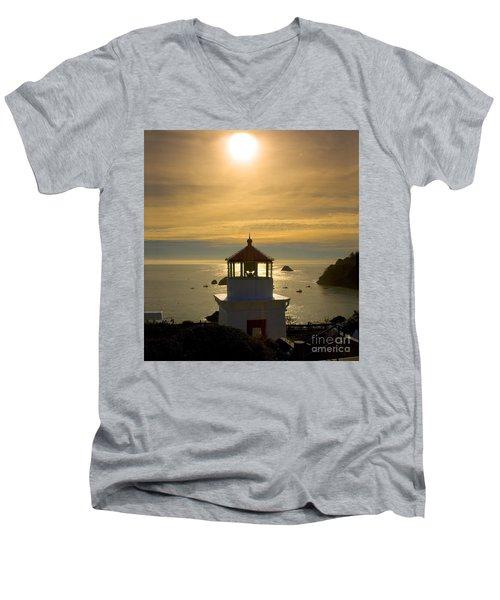 Trinidad Memorial Lighthouse Men's V-Neck T-Shirt