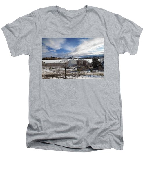 Men's V-Neck T-Shirt featuring the photograph Trip To Baldwin City Kansas by Liane Wright