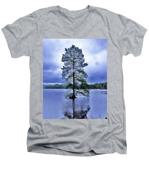 The Healing Tree - Trap Pond State Park Delaware Men's V-Neck T-Shirt