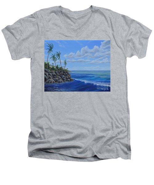 Tropical Day Men's V-Neck T-Shirt