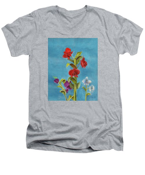 Tropical Flower Men's V-Neck T-Shirt