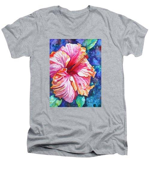 Tropical Hibiscus 4 Men's V-Neck T-Shirt