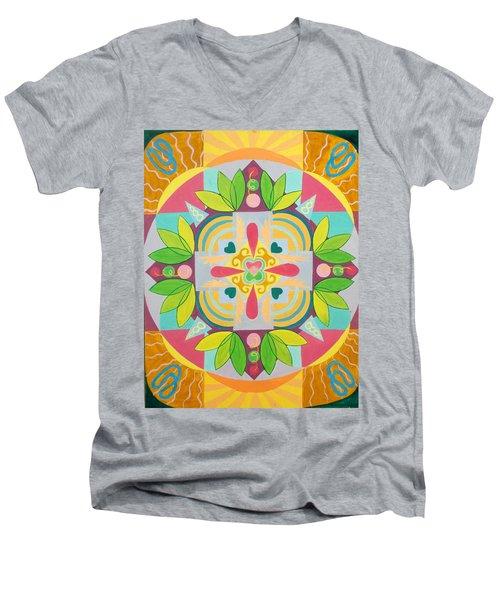 Tropical Mandala Men's V-Neck T-Shirt