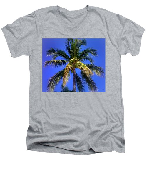 Tropical Palm Trees 8 Men's V-Neck T-Shirt
