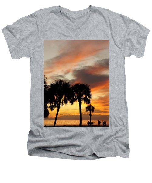 Men's V-Neck T-Shirt featuring the photograph Tropical Vacation by Laurie Perry