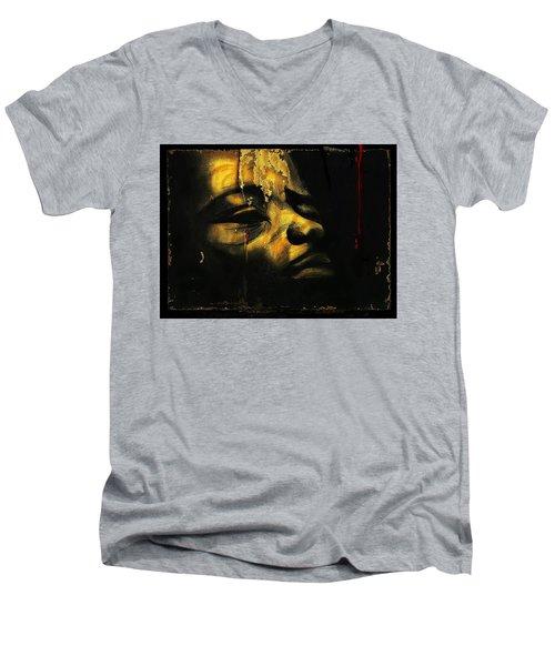 Troubled  Africa Men's V-Neck T-Shirt
