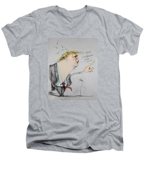 Trump In A Mission....much Ado About Nothing. Men's V-Neck T-Shirt