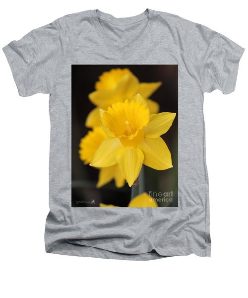 Trumpet Daffodil Named Exception Men's V-Neck T-Shirt