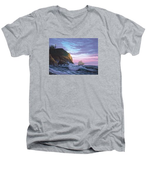Trusting The Light Men's V-Neck T-Shirt