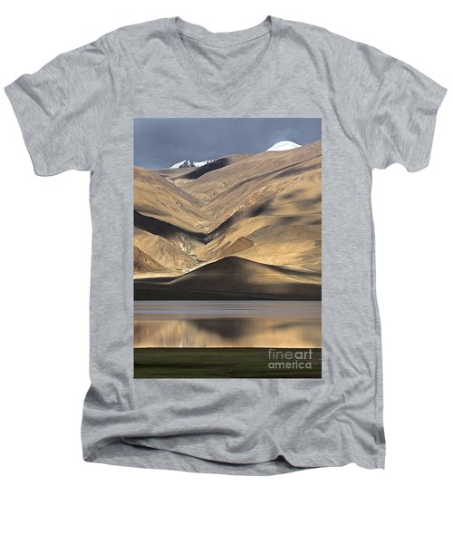 Golden Light Tso Moriri, Karzok, 2006 Men's V-Neck T-Shirt by Hitendra SINKAR