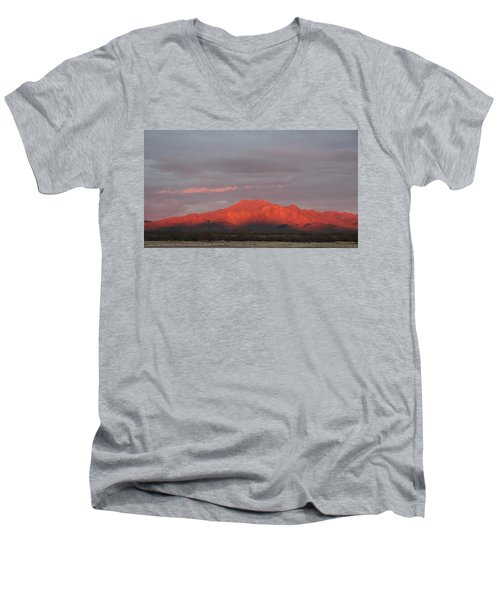 Men's V-Neck T-Shirt featuring the photograph Tucson Mountains by David S Reynolds