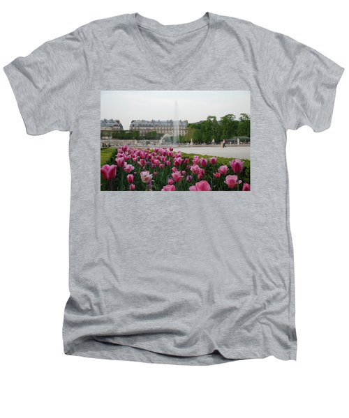 Tuileries Garden In Bloom Men's V-Neck T-Shirt