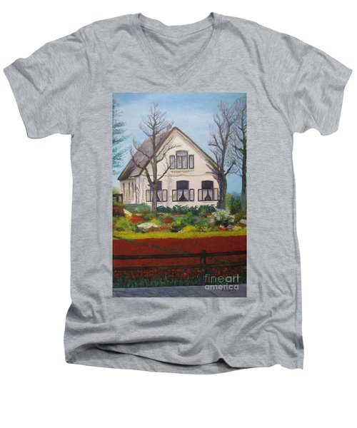 Tulip Cottage Men's V-Neck T-Shirt
