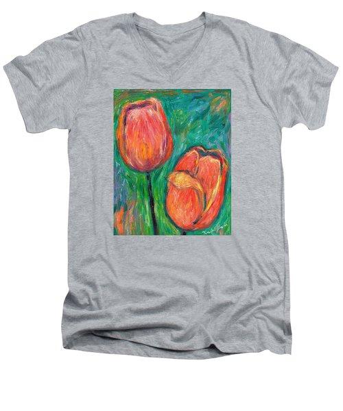 Tulip Dance Men's V-Neck T-Shirt