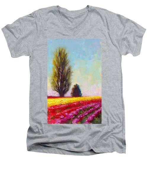 Tulip Sentinels Men's V-Neck T-Shirt