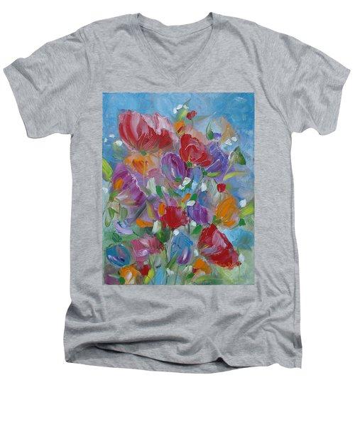 Tulip Symphony Men's V-Neck T-Shirt