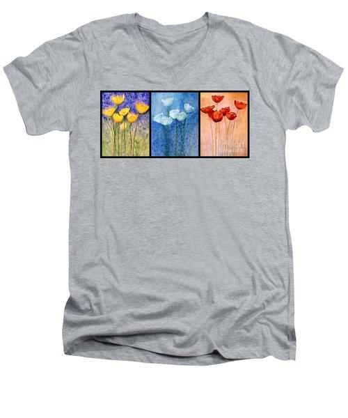 Tulips Collage  Men's V-Neck T-Shirt