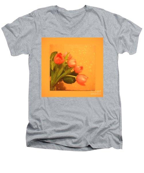 Tulips Duvet Men's V-Neck T-Shirt