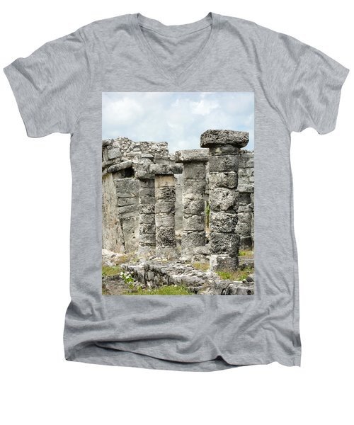 Tulum Men's V-Neck T-Shirt by Silvia Bruno