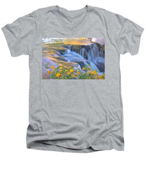 Tumbling Waters Men's V-Neck T-Shirt