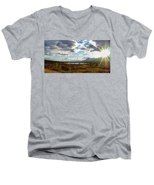 Tundra Burst Men's V-Neck T-Shirt