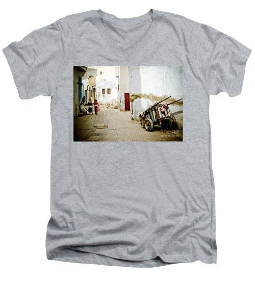 Men's V-Neck T-Shirt featuring the photograph Tunisian Girl by John Wadleigh