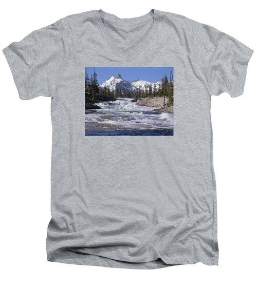 6m6539-tuolumne River  Men's V-Neck T-Shirt