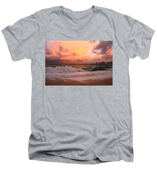 Men's V-Neck T-Shirt featuring the photograph Turbulence  by Eti Reid