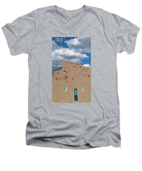 Turquoise Door And Windows Men's V-Neck T-Shirt