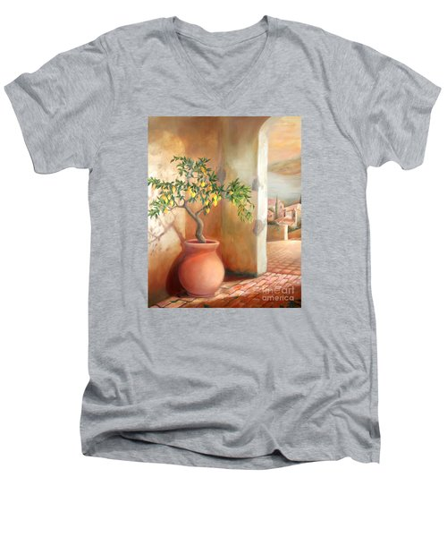 Tuscan Lemon Tree Men's V-Neck T-Shirt