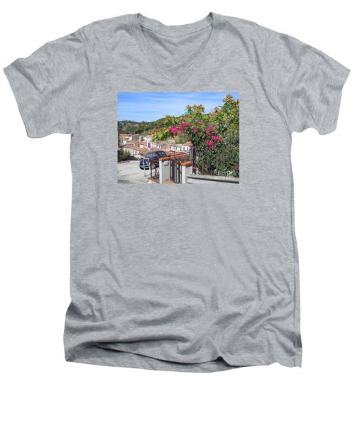 Men's V-Neck T-Shirt featuring the photograph Tuscany Hills by Ramona Matei