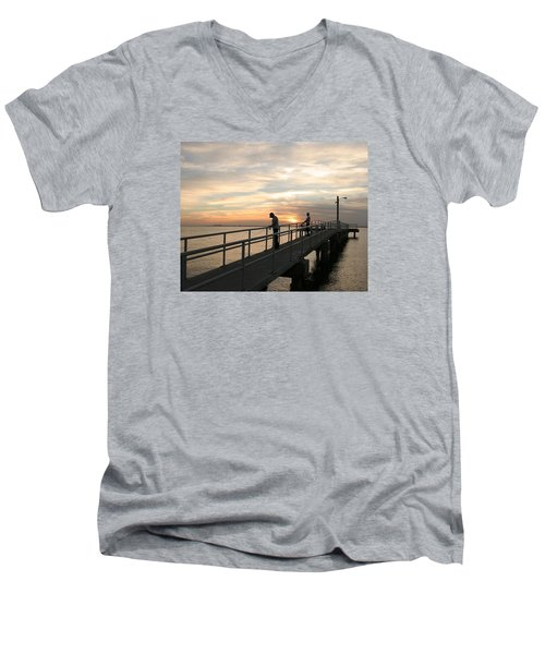 Twilight Fishing Men's V-Neck T-Shirt