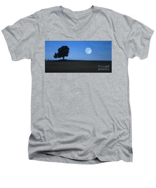 Men's V-Neck T-Shirt featuring the photograph Twilight Solitude by Sharon Elliott