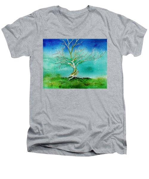 Twilight Tree Men's V-Neck T-Shirt