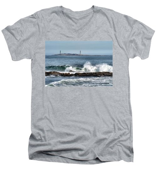 Twin Lights Men's V-Neck T-Shirt