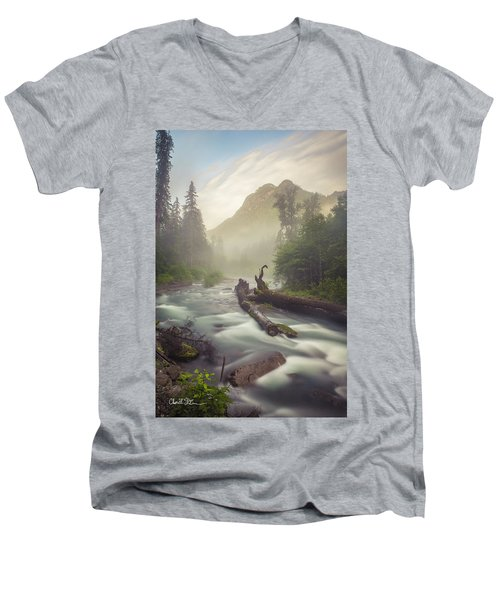 Twin Peaks Men's V-Neck T-Shirt by Charlie Duncan
