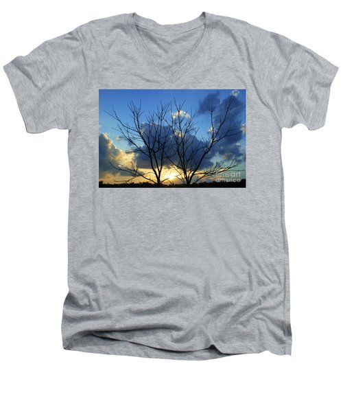 Twin Trees Men's V-Neck T-Shirt
