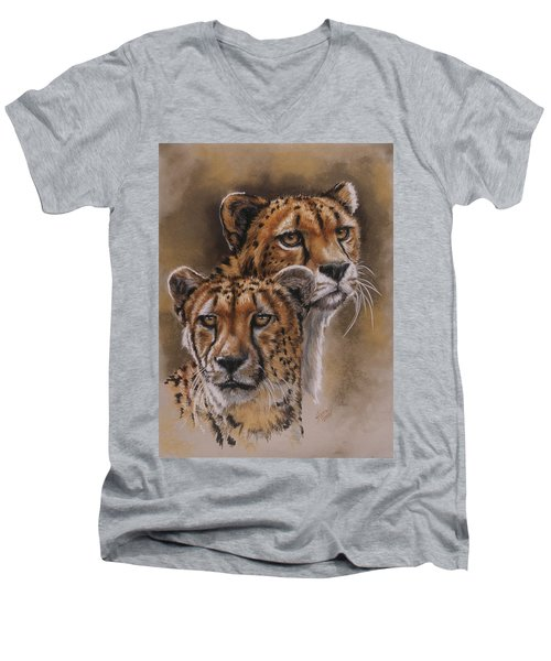 Twins Men's V-Neck T-Shirt by Barbara Keith