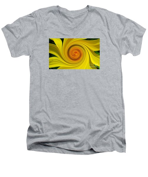 Twisted Men's V-Neck T-Shirt by Janice Westerberg
