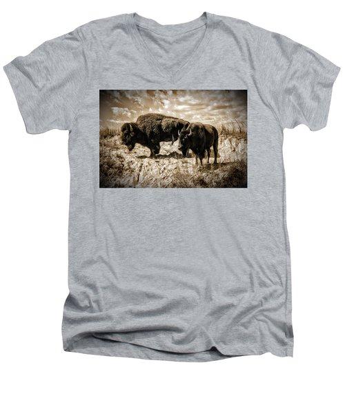Two Buffalo Men's V-Neck T-Shirt