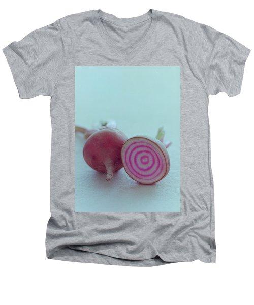 Two Chioggia Beets Men's V-Neck T-Shirt