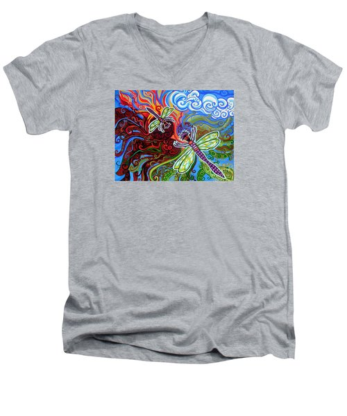Two Dragonflies Men's V-Neck T-Shirt