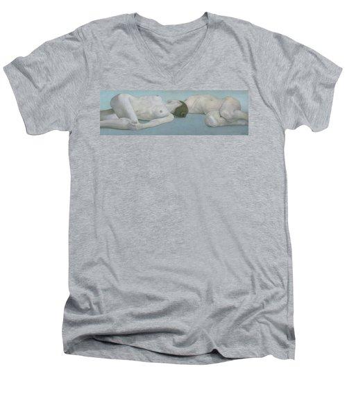Two Figures Lying Men's V-Neck T-Shirt