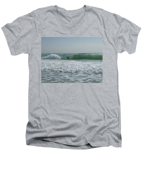 Two Green Waves Men's V-Neck T-Shirt