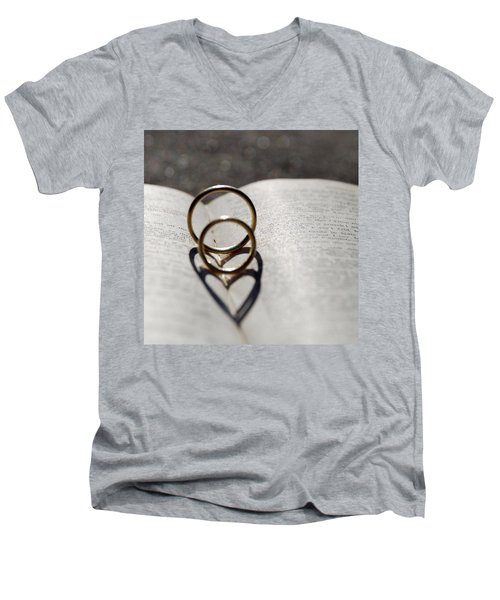 Two Hearts As One Men's V-Neck T-Shirt