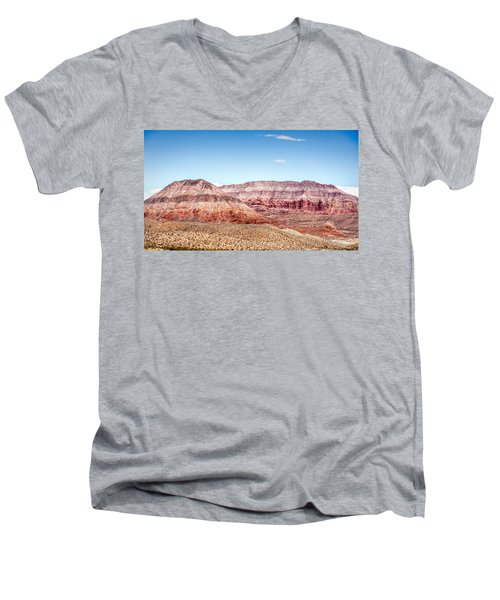 Two Layered Mountains Men's V-Neck T-Shirt