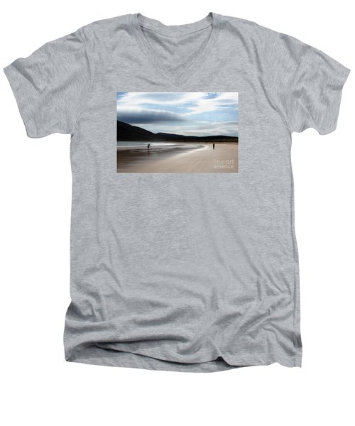 Two On A Beach Men's V-Neck T-Shirt