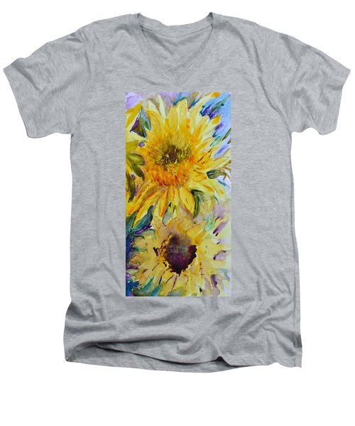 Two Sunflowers Men's V-Neck T-Shirt